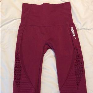 Gymshark seamless cropped leggings XS